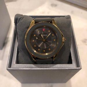 Michele cape watch grey/gold
